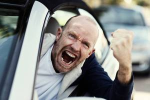 angry man shaking fist