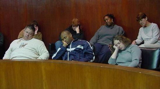 jury asleep