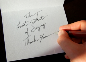lost art of saying thank you