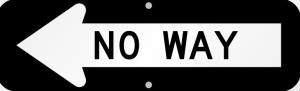 no-way-arrow-sign-k-0260-l cropped