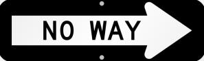 no-way-arrow-sign-k-0260-r cropped