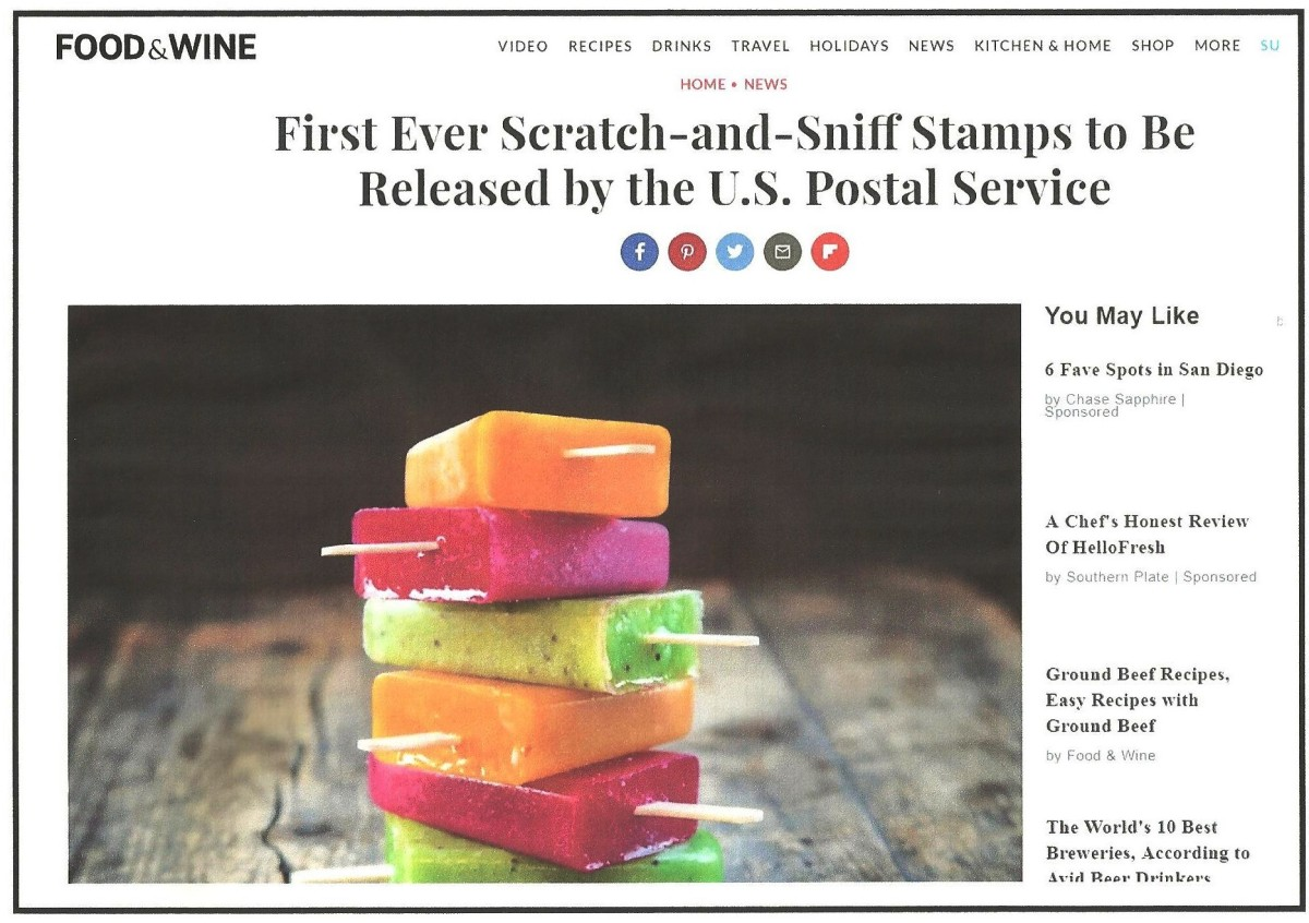 Coming June 20:   Stop And Smell The…Er…Stamps?