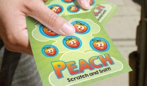 scratch peach