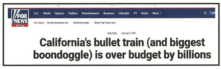 Boondoggle headline
