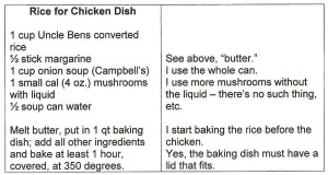 Rice Recipe Typed