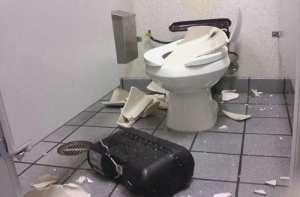 toilet exploding