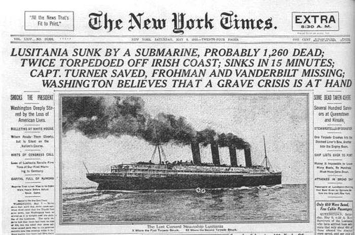 Lusitania-New-York-Times-Newspaper