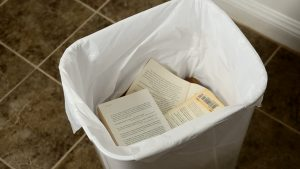 book in trash