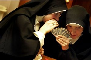 nuns playing poker