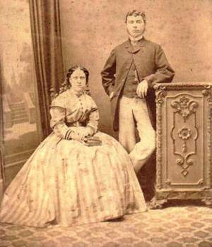 annie and john chapman circa 1869