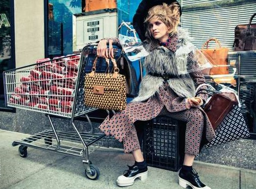 bag lady chic vogue 2012 cropped
