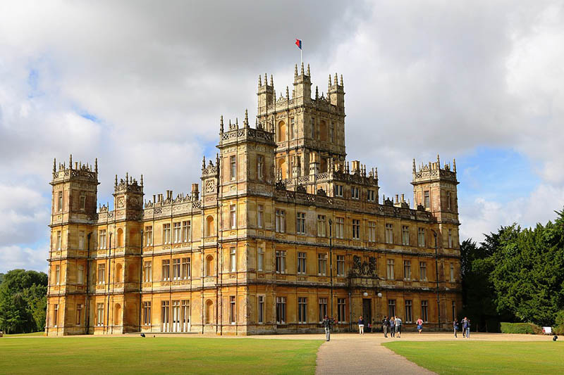 Highclere with people