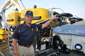 Ballard and remotely operated underwater vehicle