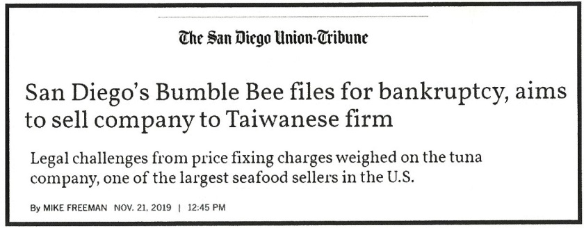 Bumble Bee Bankruptcy (2)
