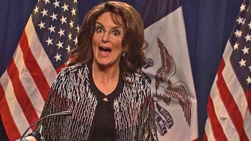 Fey as Palin endorsing Trump