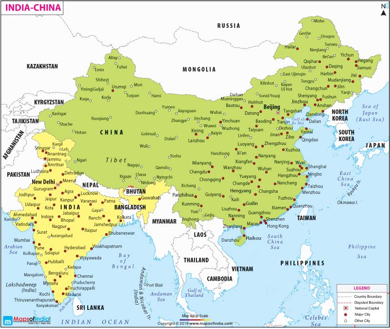 india-china-map