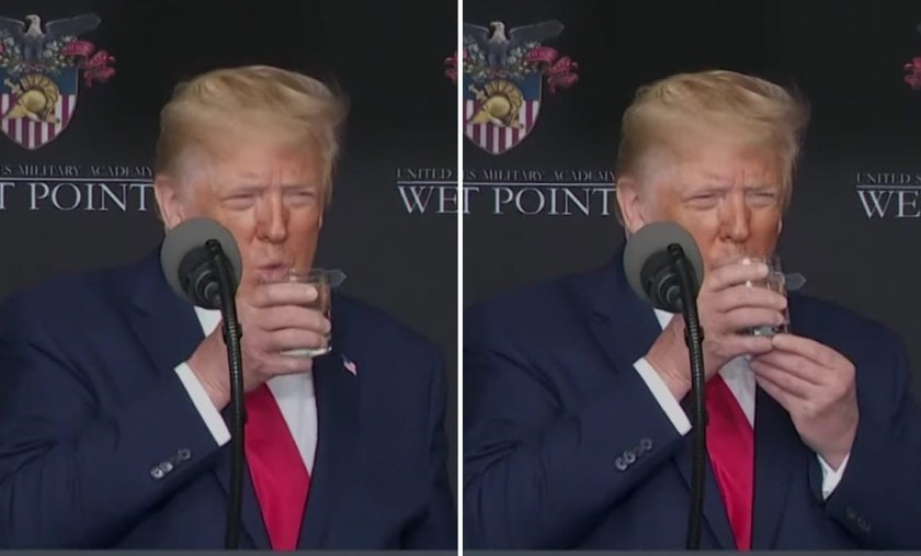 Trump water glass cropped