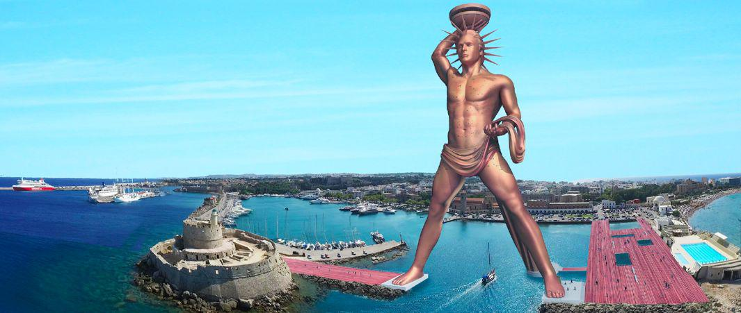 There He'll Stand, Like The Colossus of Rhodes…