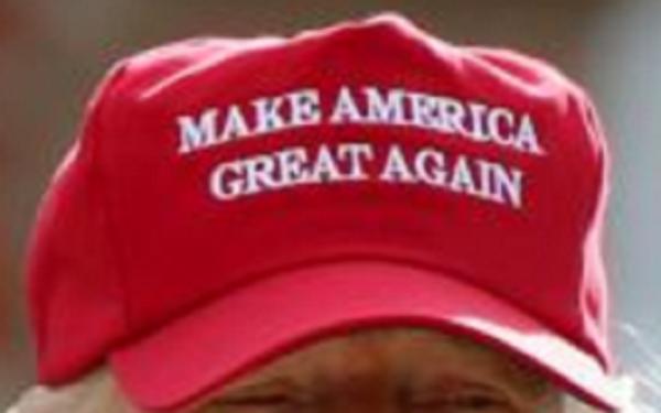 MAGA hat cropped