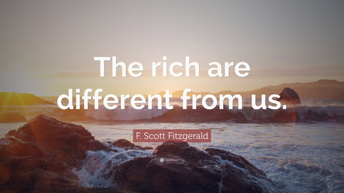 As F. Scott Fitzgerald Said…