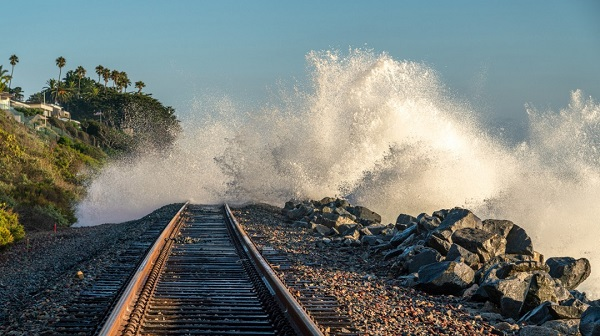 Welcome To California – Where You Can Ride The Train And Swim At The SameTime: